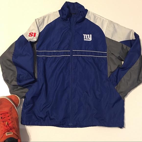 new arrival ea482 afa8e Dunbrooke NFL NY Giants unisex Windbreaker jacket.